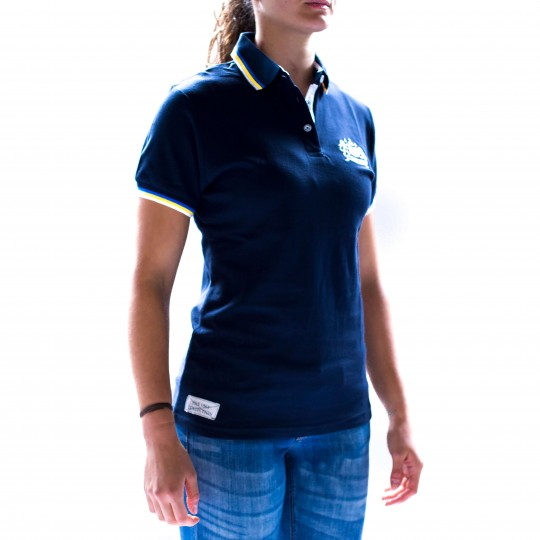 Womens Bath Rugby 1865 Polo - Navy