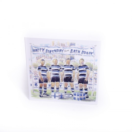 Bath Rugby Team Birthday Card