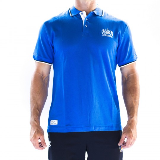 Bath Rugby 1865 Heritage Pique Polo - Royal Blue