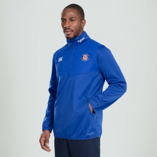 Bath Rugby ThermoReg 1/4 Zip Training Top - Blue