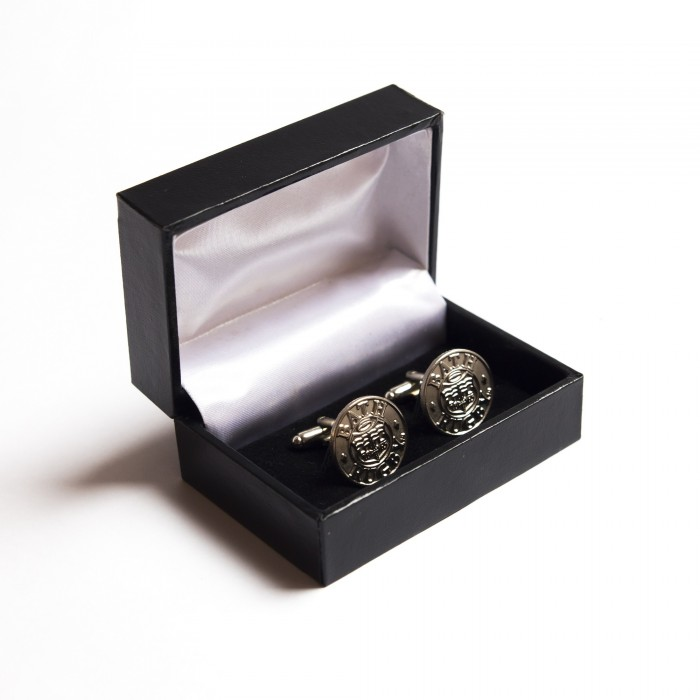 BOXED SILVER CUFFLINKS 16 17