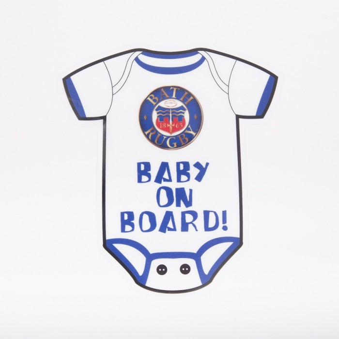 Bath Rugby Baby On Board Car Sticker