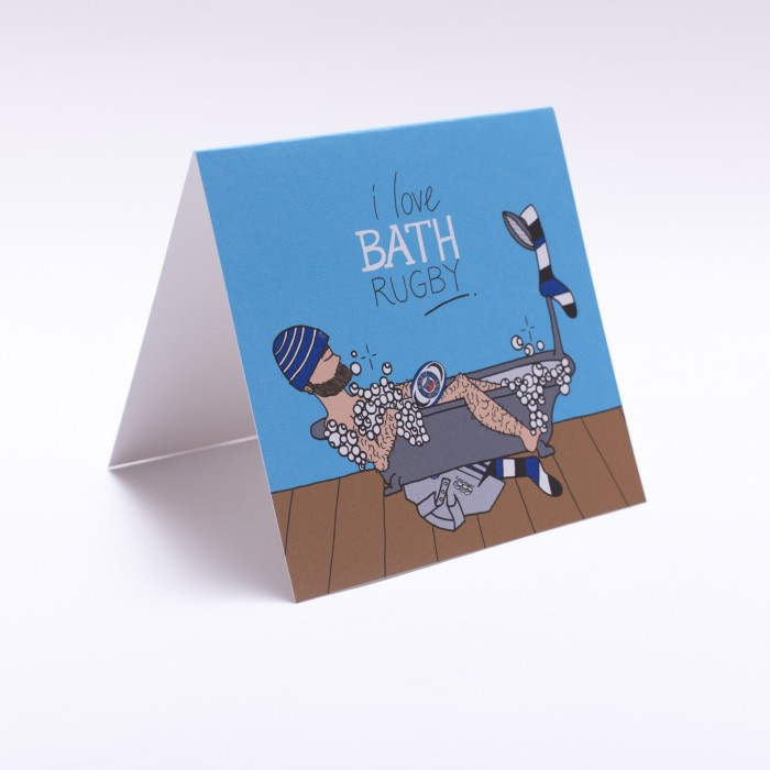 In The Tub Greeting Card