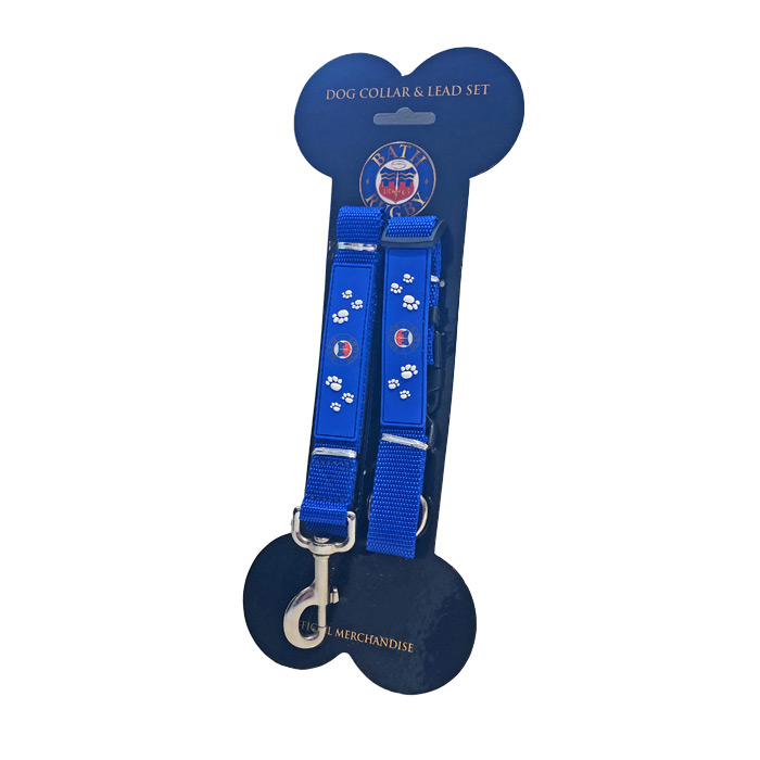 Bath Rugby Dog Collar Lead - Blue
