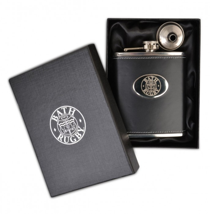 Bath Rugby Hip Flask - Black