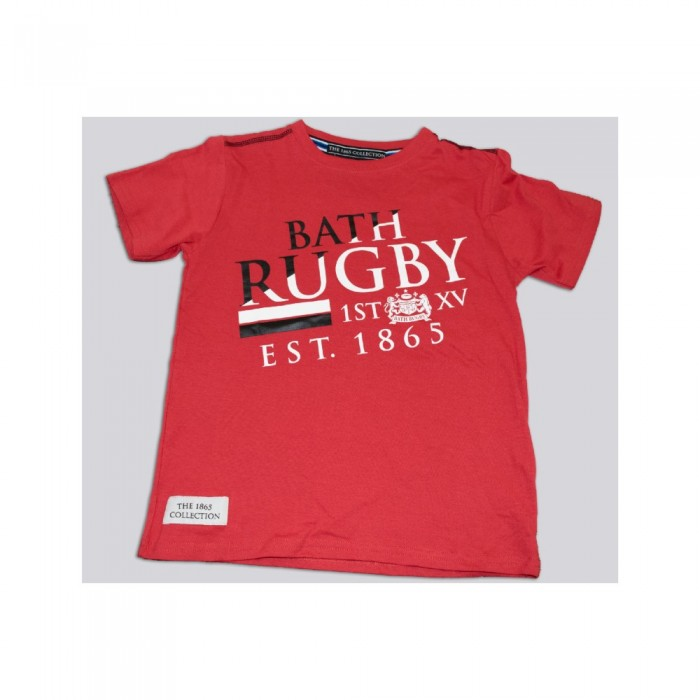 Junior Bath Rugby 1865 Asymetric Tee - Red