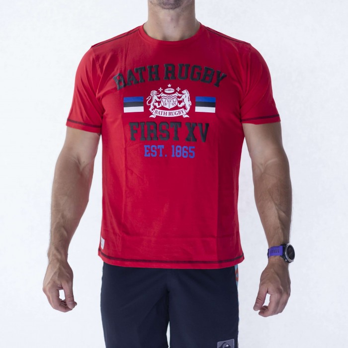 Bath Rugby 1865 College Tee - Red