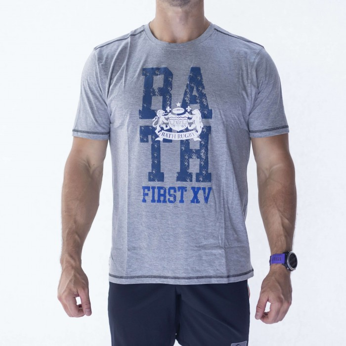 Bath Rugby 1865 Puff Print Tee - Grey