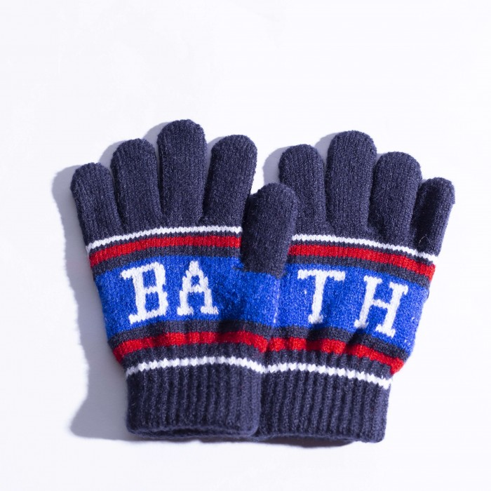Junior Bath Rugby 1865 College Gloves - Navy