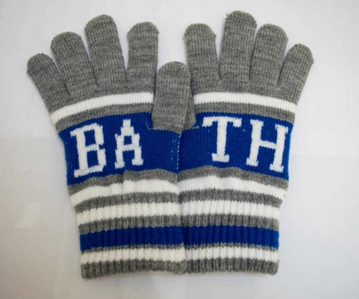 Adult Bath Rugby 1865 College Gloves - Grey