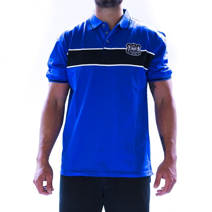 Bath Rugby 1865 Hanson Stripe Polo - Royal Blue