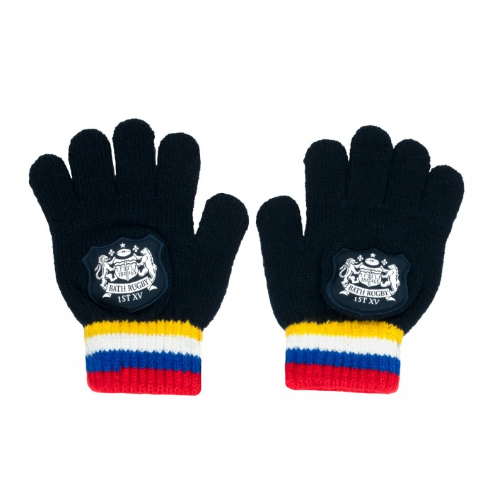 Bath Rugby Kids Stripe Gloves