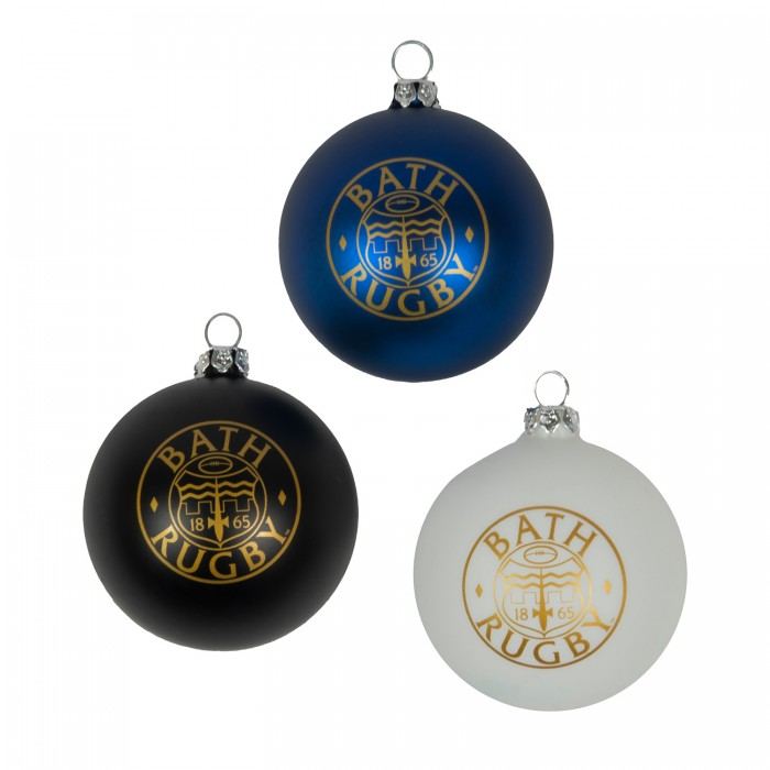Bath Rugby Christmas Baubles