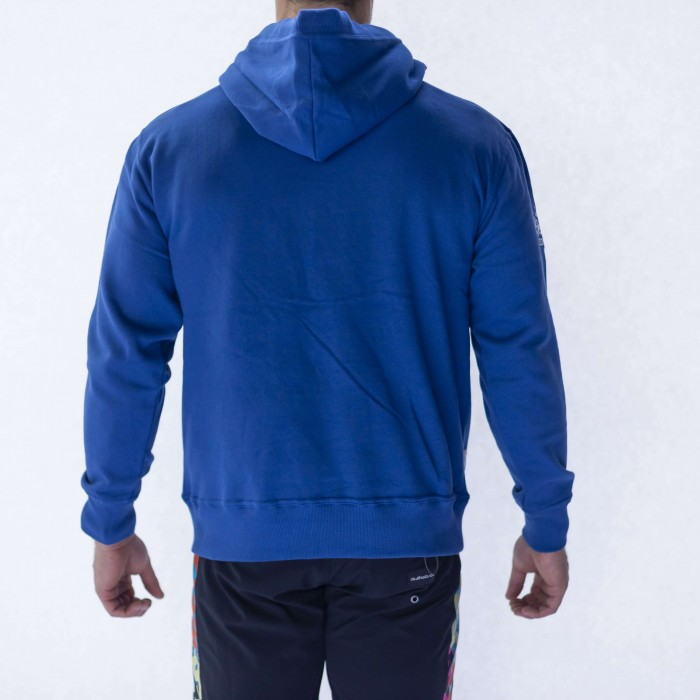 Bath Rugby 1865 Striped Supporter Hoodie - Blue